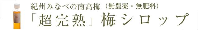 紀州みなべの南高梅 「超完熟」梅シロップ